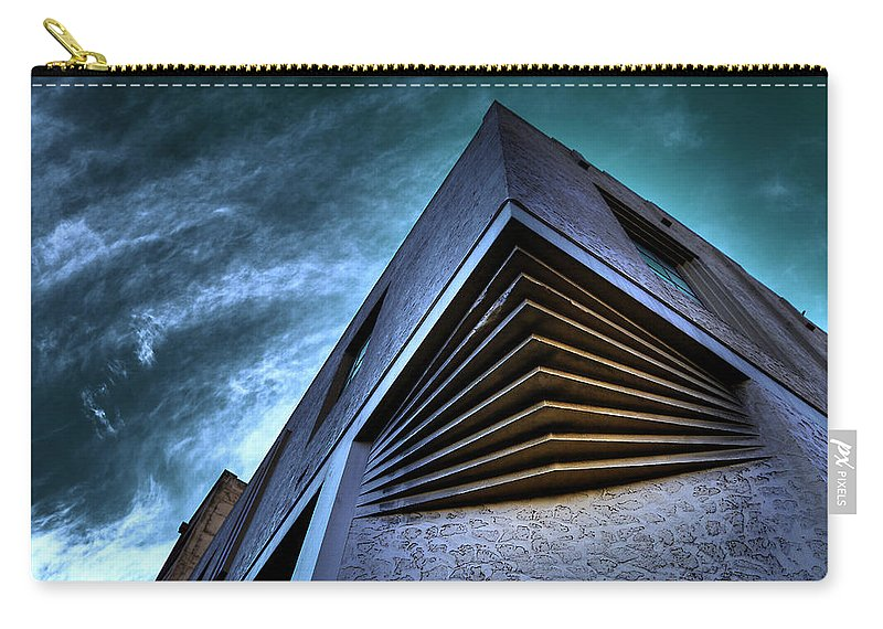 Architecture Carry-all Pouch featuring the photograph Corner Shot by Wayne Sherriff