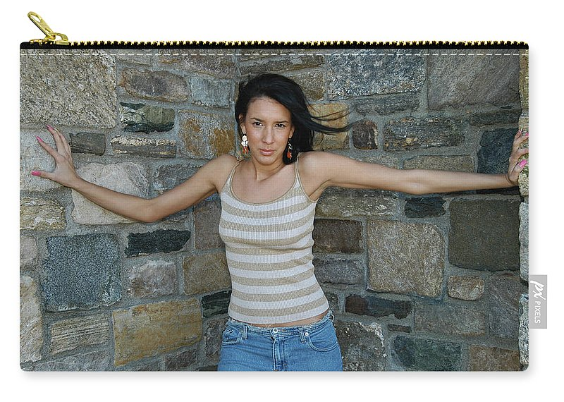 Model Carry-all Pouch featuring the photograph Cornered by Mike Martin
