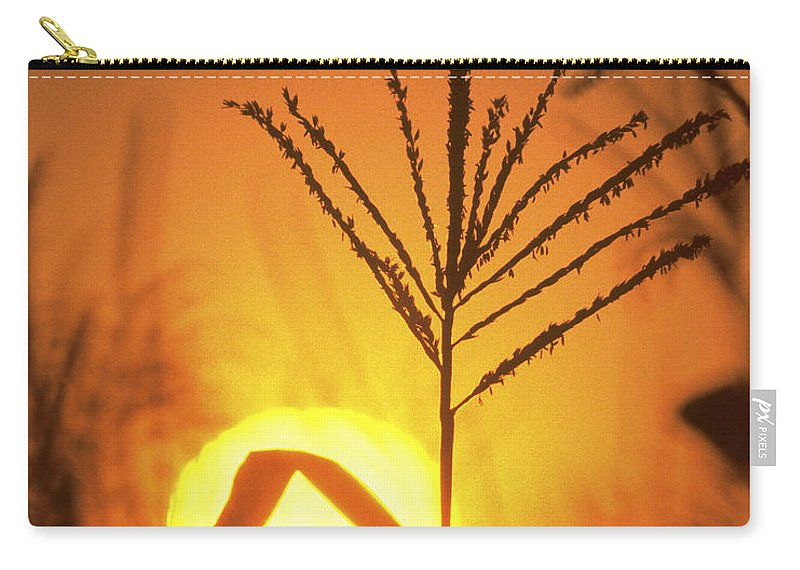 Corn Carry-all Pouch featuring the photograph Cornfield Sunset by Garry McMichael