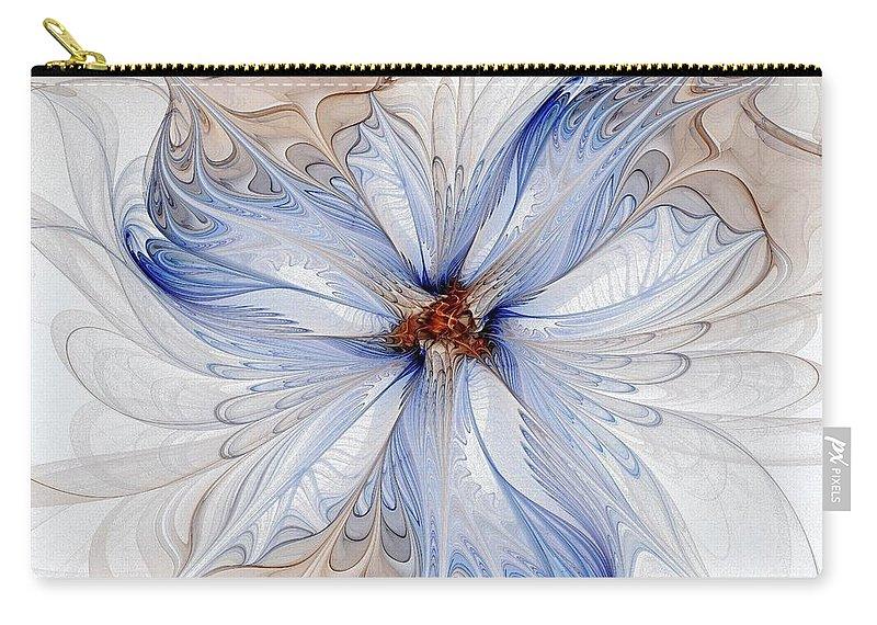 Digital Art Carry-all Pouch featuring the digital art Cornflower blues by Amanda Moore