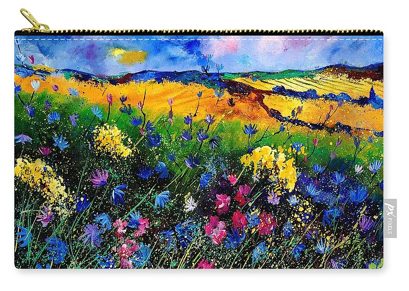 Flowers Carry-all Pouch featuring the painting Cornflowers 680808 by Pol Ledent