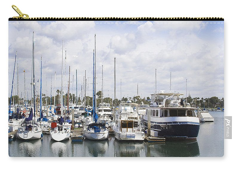 Coronado Carry-all Pouch featuring the photograph Coronado Boats II by Margie Wildblood