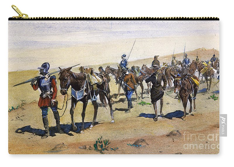 1540 Carry-all Pouch featuring the painting Coronados March, 1540 by Granger