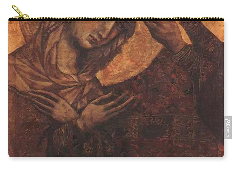 Coronation Carry-all Pouch featuring the painting Coronation Of The Virgin 1311 by Duccio