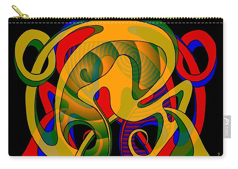 Life Carry-all Pouch featuring the digital art Corresponding independent Lifes by Helmut Rottler