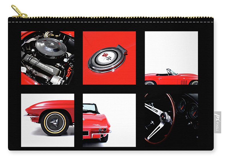 Chevrolet Corvette Stingray Carry-all Pouch featuring the photograph Corvette 1965 by Mark Rogan