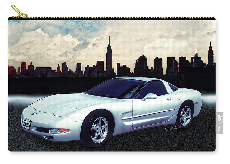 Chevrolet Carry-all Pouch featuring the photograph Corvette C-5 1997-2004 by Chas Sinklier