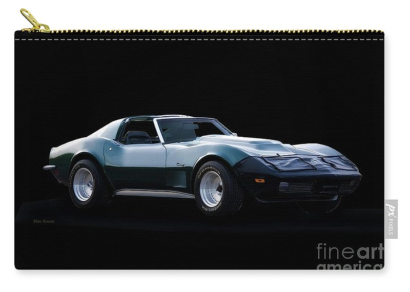 Auto Carry-all Pouch featuring the photograph Corvette C3 Stingray II by Dave Koontz
