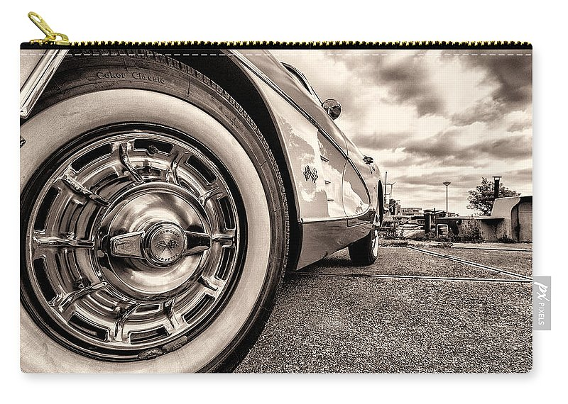 C1 Carry-all Pouch featuring the photograph Corvette Rim by Wim Slootweg