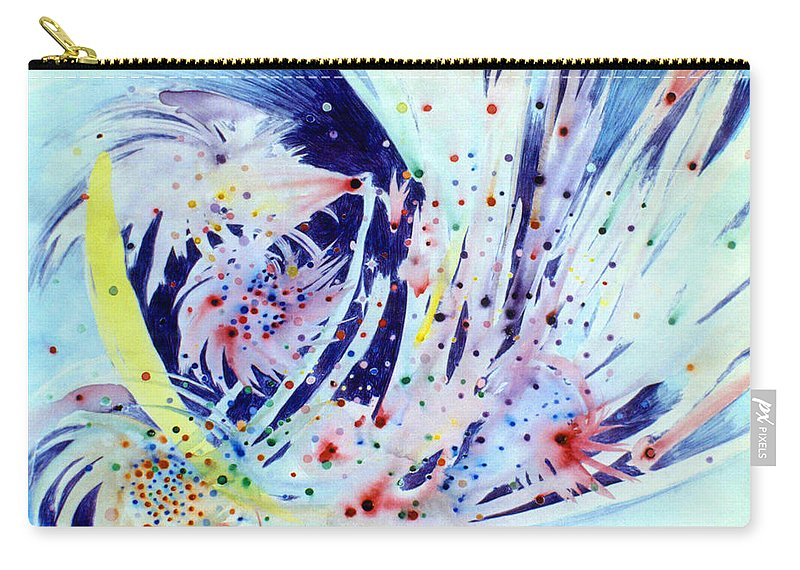 Abstract Carry-all Pouch featuring the painting Cosmic Candy by Steve Karol