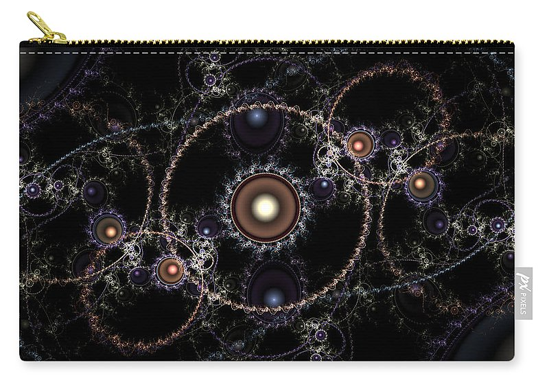 Abstract Carry-all Pouch featuring the digital art Cosmic Clockworks by Casey Kotas