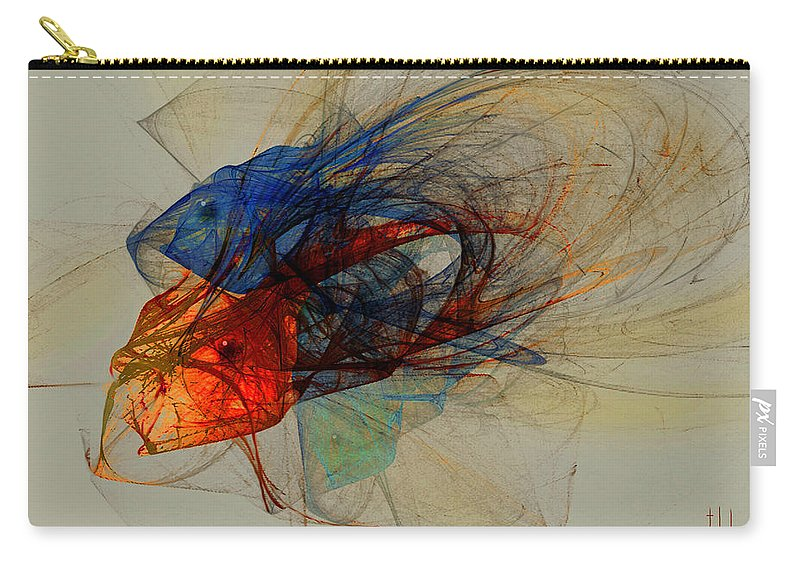 Fish Carry-all Pouch featuring the digital art Cosmic Fish by Stephen Lucas