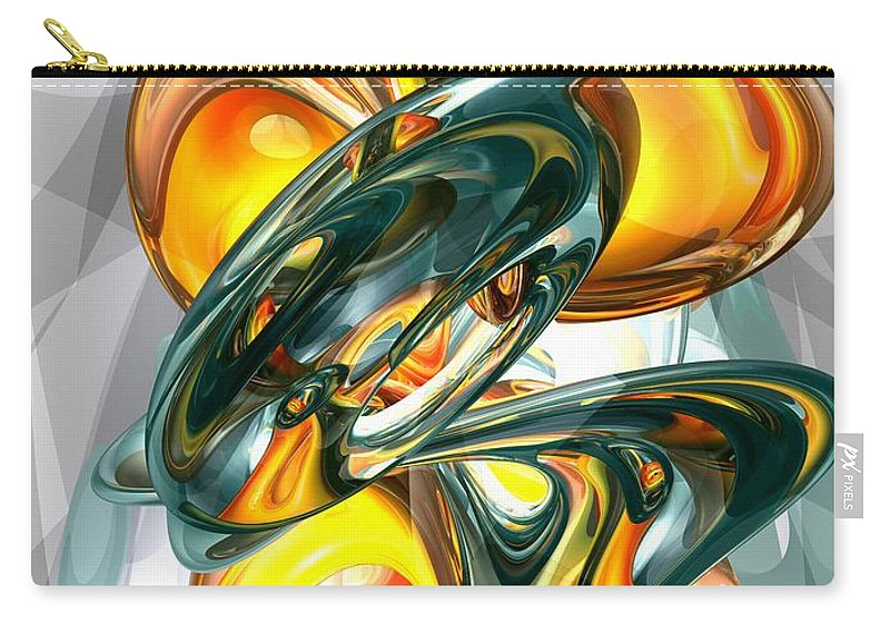 3d Carry-all Pouch featuring the digital art Cosmic Flame Abstract by Alexander Butler