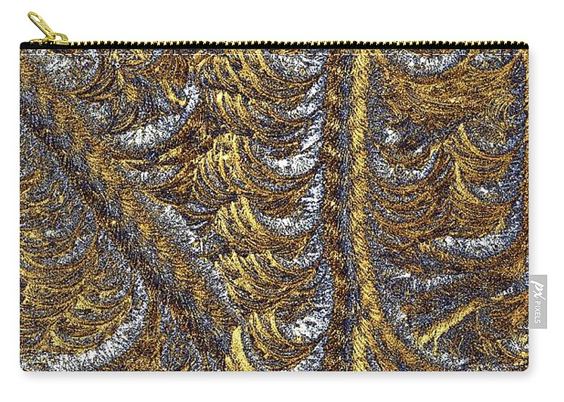Scallop Carry-all Pouch featuring the photograph Cosmic Patterns - Hoarfrost by Kim Bemis