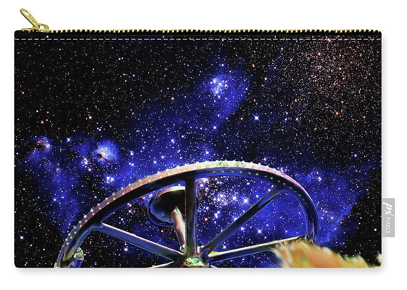 Bodie Carry-all Pouch featuring the photograph Cosmic Wheel by Jim And Emily Bush