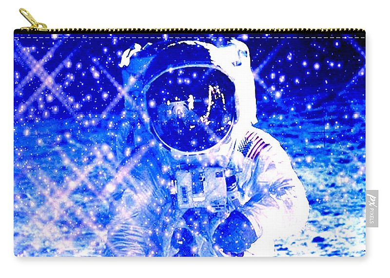 Space Carry-all Pouch featuring the digital art Cosmic Wonders Cropped by Drew Goehring