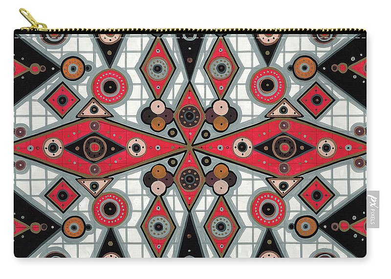 Tribal Carry-all Pouch featuring the painting Cosmictribegeo#1 by Donnie Todd Reilly II