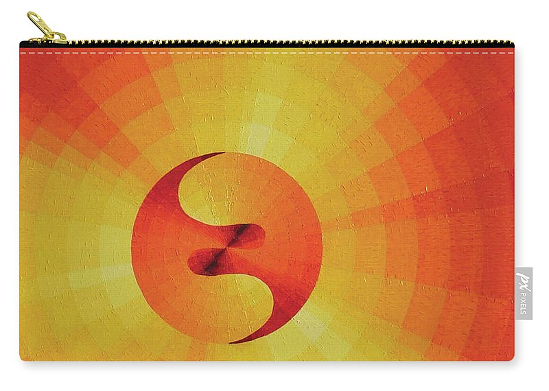Oil Carry-all Pouch featuring the painting Cosmogenesis by Peter Antos