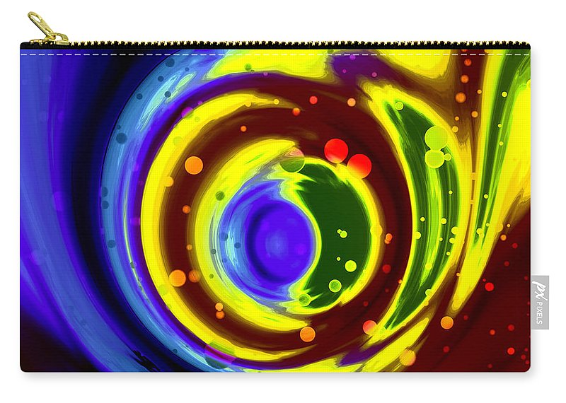 Art Digital Art Carry-all Pouch featuring the digital art Cosmos Drift by Alex Porter