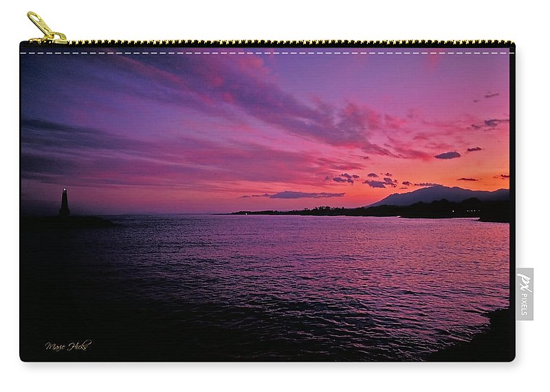 Costa Del Sol Carry-all Pouch featuring the photograph Costa Del Sol Sunset In Marbella by Marie Hicks