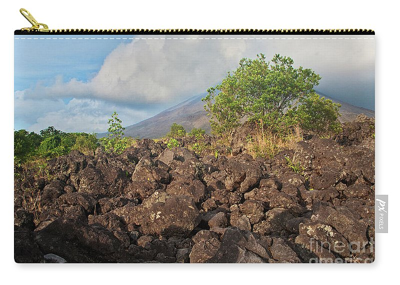 Volcano Carry-all Pouch featuring the photograph Costa Rica Volcanic Rock II by Madeline Ellis