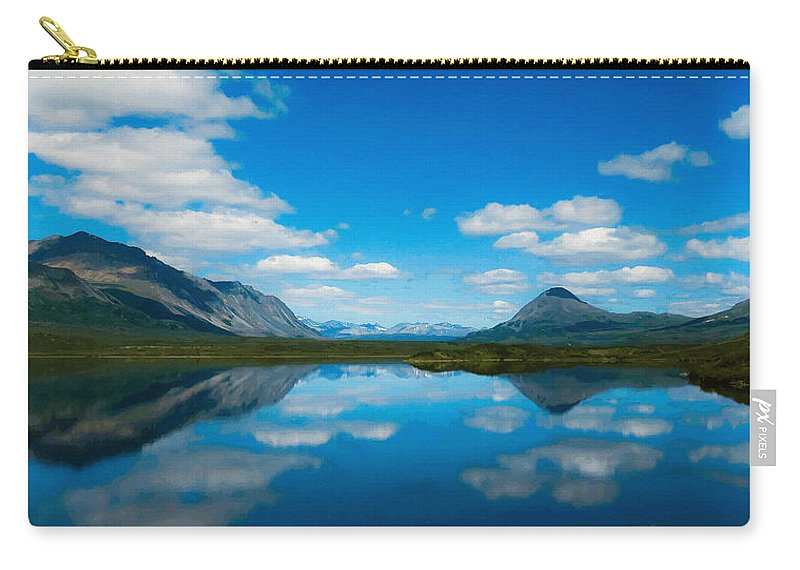 Beauty Spot Carry-all Pouch featuring the digital art Cottage At Lake by Max Steinwald