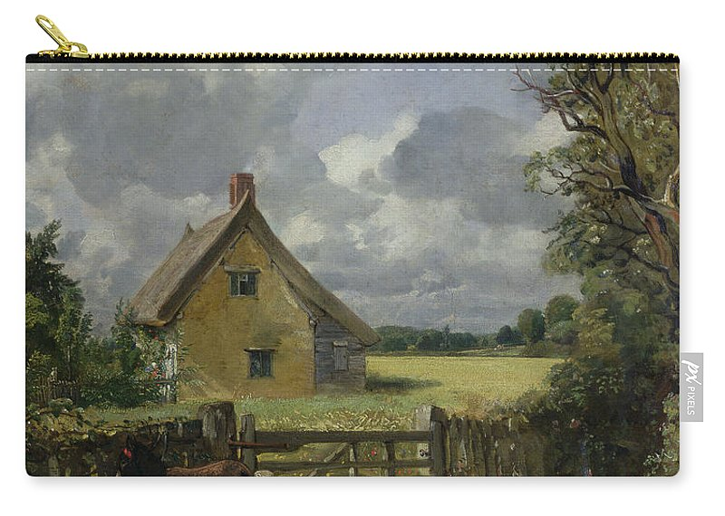 Cottage Carry-all Pouch featuring the painting Cottage In A Cornfield by John Constable