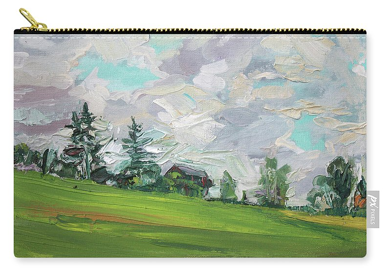 Summer Carry-all Pouch featuring the painting Cottage On The Hill by Andrei Belevich