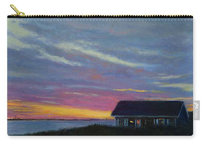 Landscape Carry-all Pouch featuring the painting Cottage with a View by Phyllis Tarlow