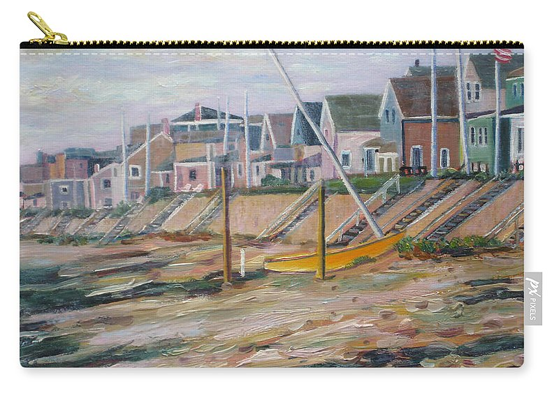 Beach Carry-all Pouch featuring the painting Cottages Along Moody Beach by Richard Nowak