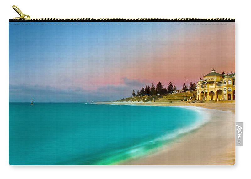 Landscape Carry-all Pouch featuring the photograph Cottesloe Beach Sunset by Az Jackson