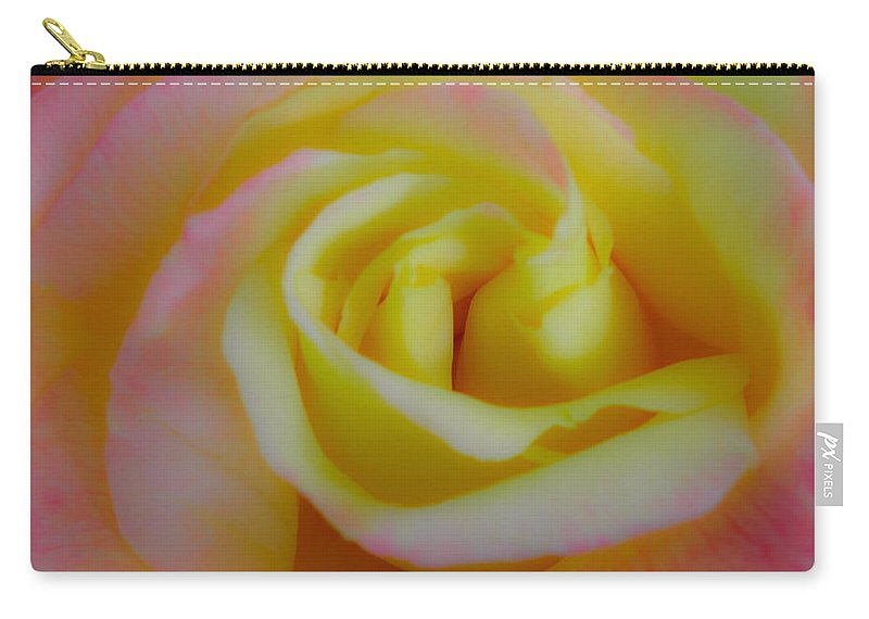 Rose Carry-all Pouch featuring the photograph Cotton Candy Roses by Stephen Settles