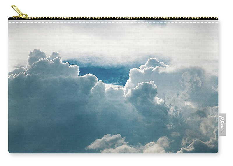 Clouds Carry-all Pouch featuring the photograph Cotton Clouds by Marc Wieland