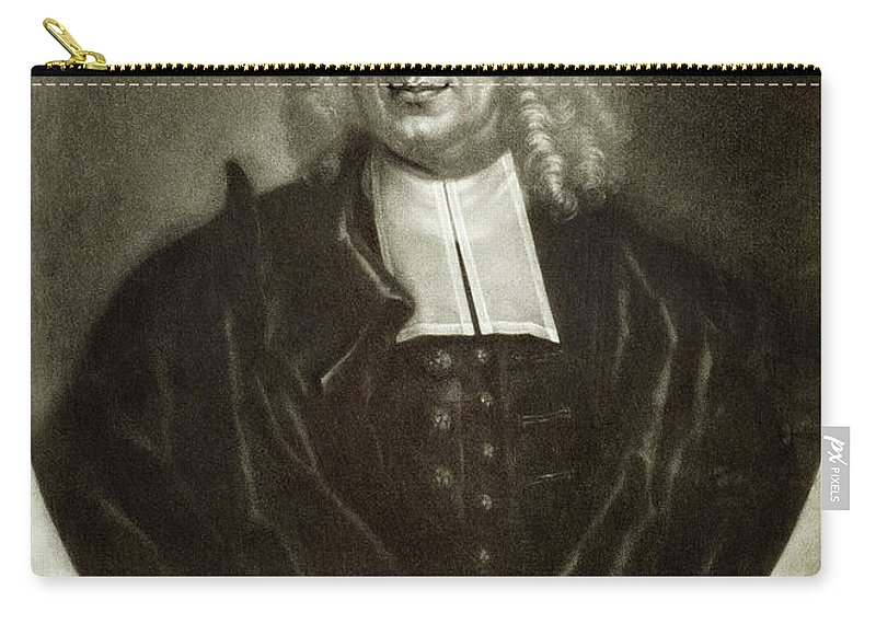18th Century Carry-all Pouch featuring the drawing Cotton Mather 1663-1728 by Granger