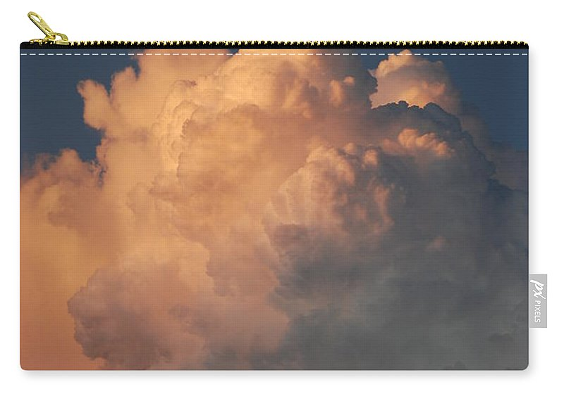 Clouds Carry-all Pouch featuring the photograph Cottonballs by Rob Hans