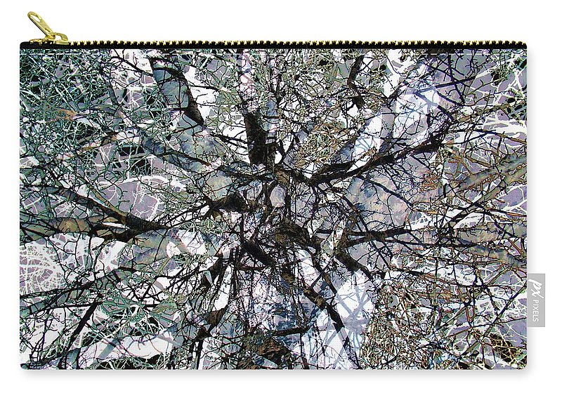 Cottonwood Carry-all Pouch featuring the photograph Cottonwood Montage by Ron Bissett