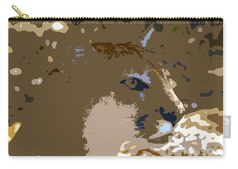 Cougar Carry-all Pouch featuring the painting Cougar by David Lee Thompson