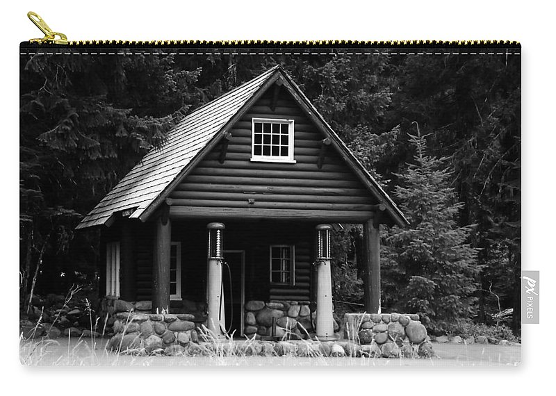 Cougar Rock Gas Station Carry-all Pouch featuring the photograph Cougar Rock Gas Station by David Lee Thompson