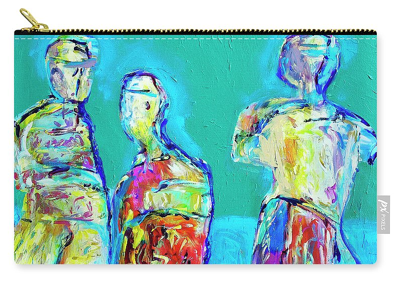 Abstract Carry-all Pouch featuring the painting Council Of Elders by Dominic Piperata