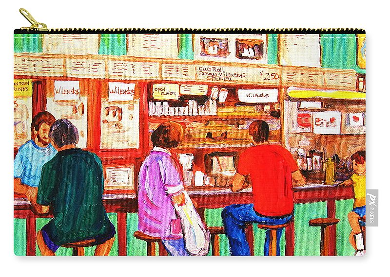 Montreal Carry-all Pouch featuring the painting Counter Culture by Carole Spandau