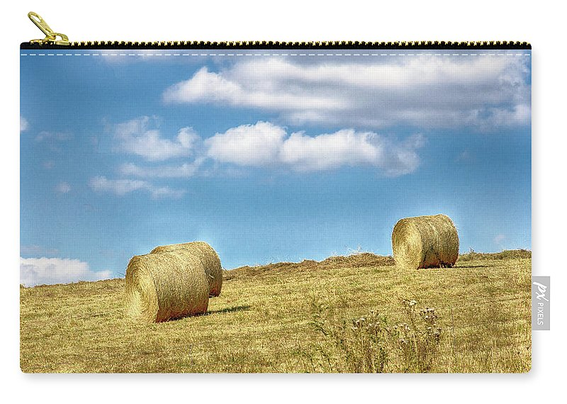 Country Carry-all Pouch featuring the photograph Country Bales by Spirit Vision Photography
