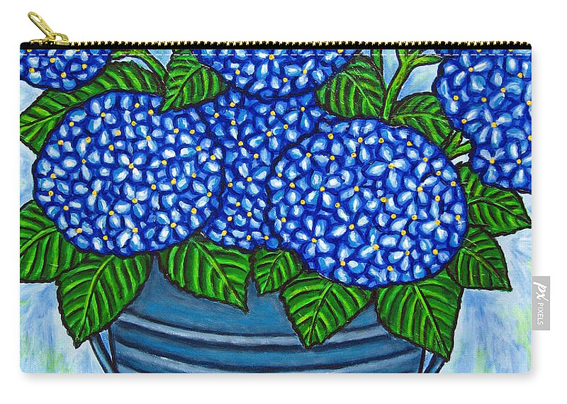 Blue Carry-all Pouch featuring the painting Country Blues by Lisa Lorenz