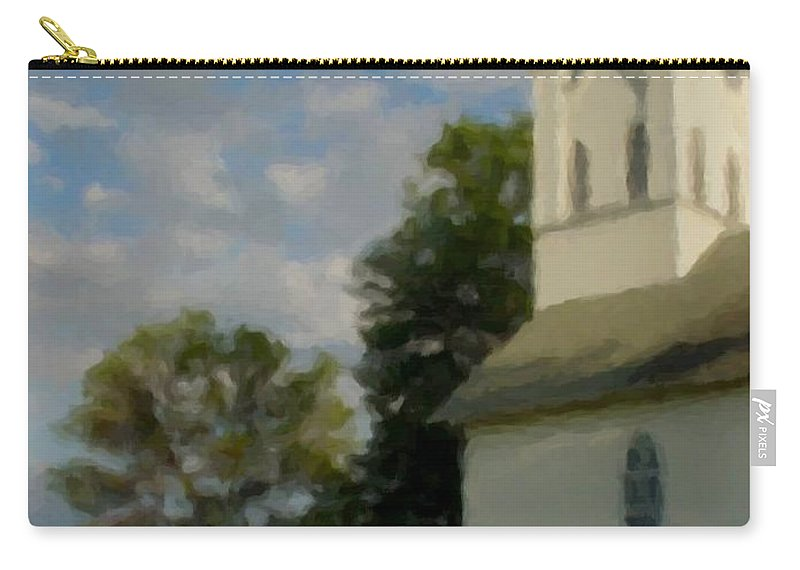 Church Carry-all Pouch featuring the digital art Country Chuch by Anita Burgermeister