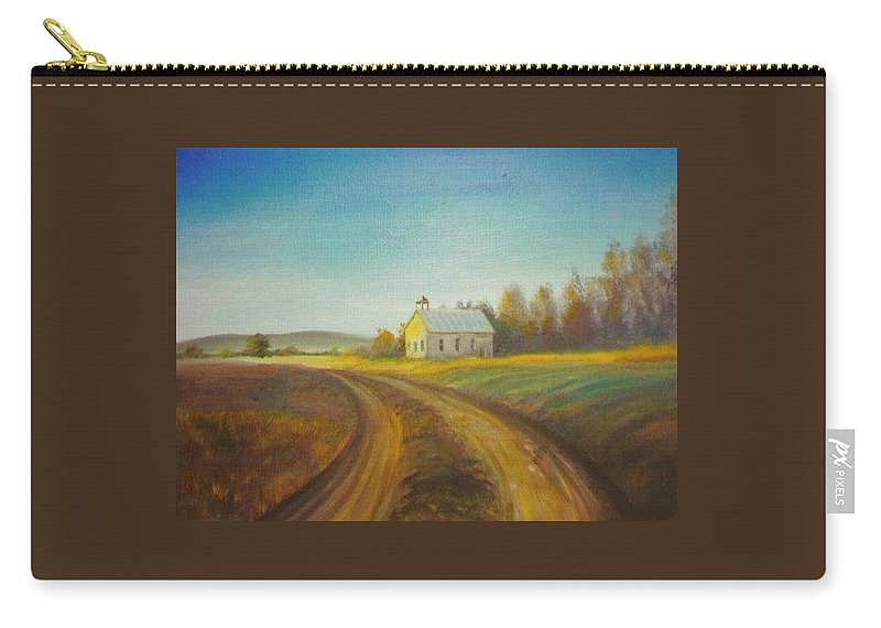Landscape Carry-all Pouch featuring the painting Country Church by Scott Easom