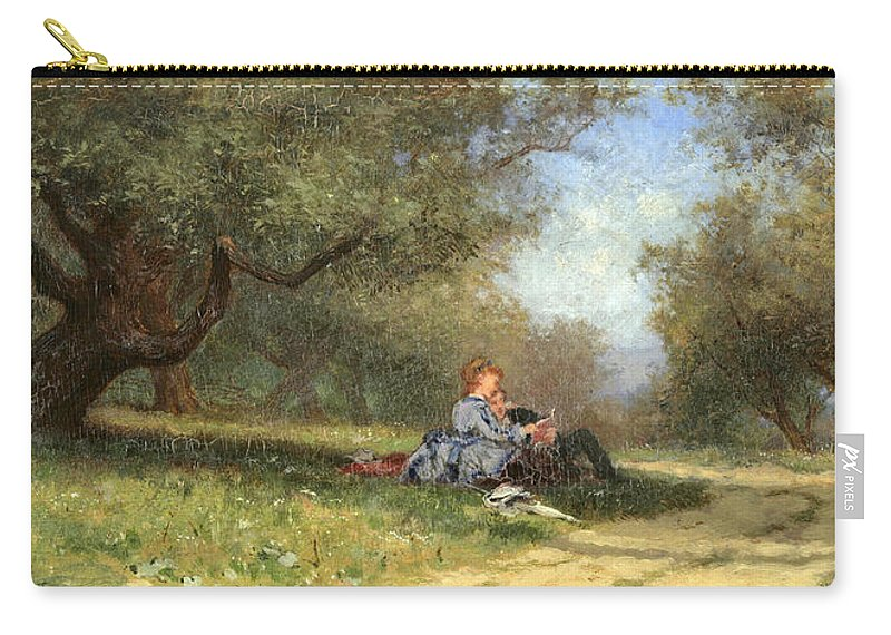 Alfred Wordsworth Thompson Carry-all Pouch featuring the painting Country Couple by Alfred Wordsworth Thompson