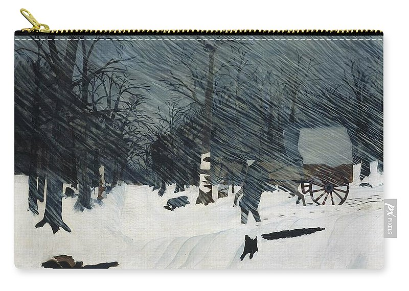 Country Doctor (night Call) Horace Pippin Carry-all Pouch featuring the painting Country Doctor by MotionAge Designs