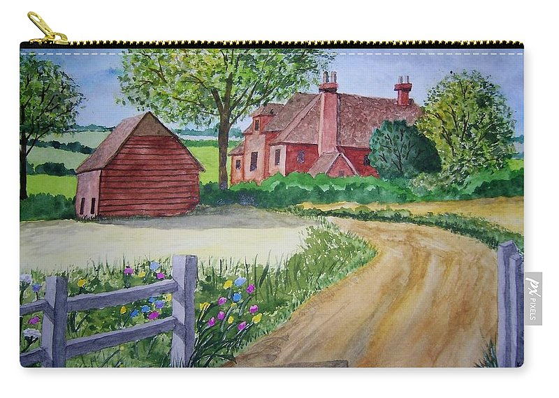 Landscape Carry-all Pouch featuring the painting Country Estate by B Kathleen Fannin