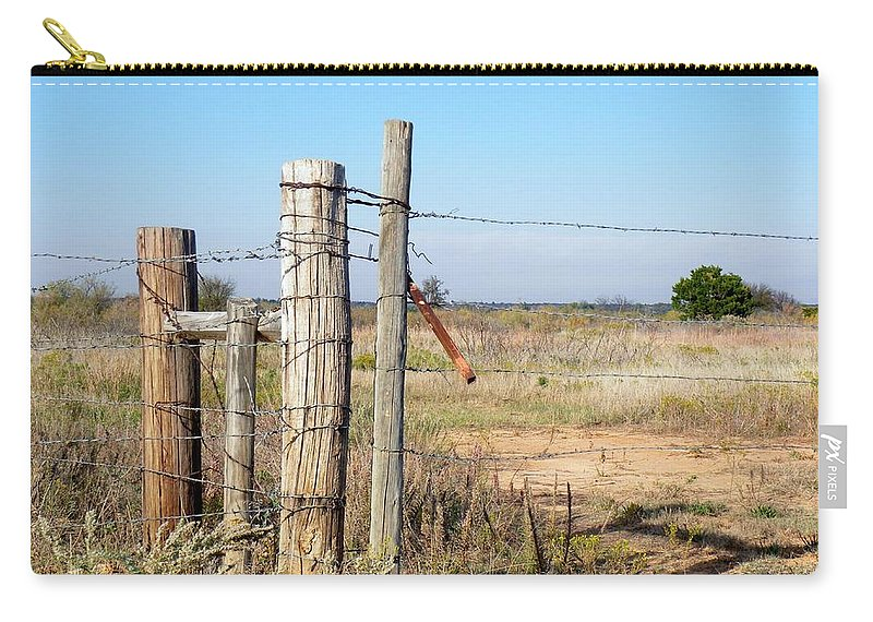 Gate Carry-all Pouch featuring the photograph Country Gate by Annie Adkins