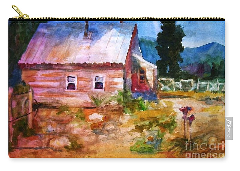 Cottage Carry-all Pouch featuring the painting Country House by Frances Marino