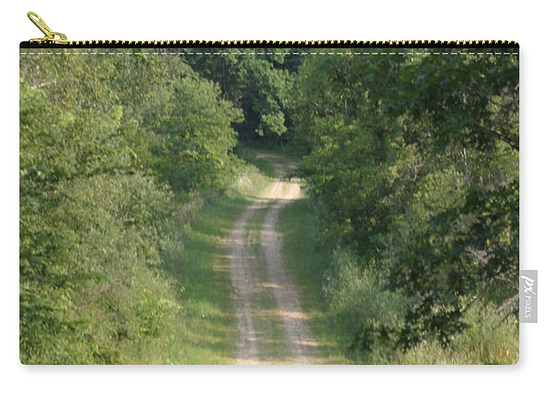 Gravel Carry-all Pouch featuring the photograph Country Lane by Bjorn Sjogren